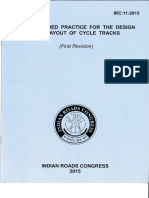 IRC 11-2015 Design & Layout of Cycle Tracks