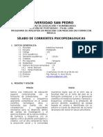 Silabo de Corrientes Psicopedagogicas - 2016 - 1