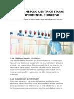 Pasos Del Metodo Cientifico Etapas Metodo Experimental Deductivo
