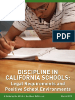 Discipline in California