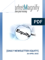 Daily Equity Market Research Report 26-April-2016