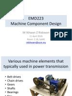 CH 1 Machine Component Design Introduction