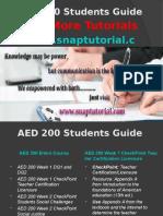 AED 200 Apprentice tutors/snaptutorial