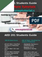 AED 201 Apprentice tutors/snaptutorial