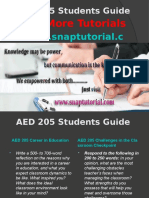 AED 205 Apprentice tutors/snaptutorial