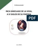 Inca Garcilaso de La Vega, a IV Siglos de su partida.