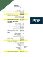 Meeting Budget Worksheet