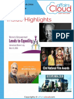 Current Affairs Study PDF - March 2016 by AffairsCloud