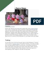 Filipino Folk Dance Steps