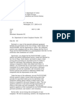 US Department of Justice Civil Rights Division - Letter - tal418a