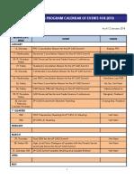 GMS 2018 Calendar of Events