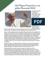 Homilía Pascua Papa Francisco