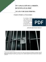 La Prisión Preventiva de Lege Lata y Ferenda 25.04.2016