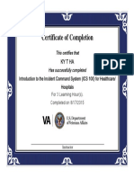 introduction to the incident command system  ics 100  for healthcare