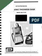 Panametrics 26DLP Manual