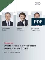 Speeches Auto China 2016