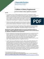 Caffeine Ds Fact Sheet