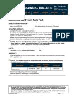 LA415001 DVD Audio Fault
