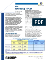 Early Markets Backup Power