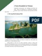 Top 5 Beste Strandziele in Vietnam