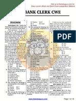 IBPS Bank Clerk CWE,14.12.2013