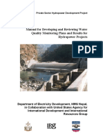 Manual for Developing and Reviewing Water Quality
