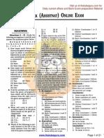 SBI Clerk (Assistant ) Online Exam,08.02.2015