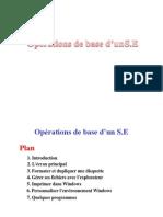 Opérations de base d'un S.E
