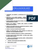 Marketing y Ventas - 25 Recetas Para La Lealtad Del Cliente