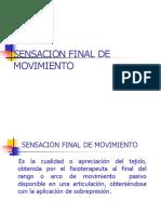 Sensación Final de Movimiento