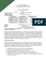 Financial Management Syllabus