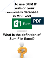 How to Use SUM if Formula on Your Customers Database in MS Excel_Sofia B_Precision Minister