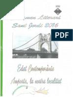 Joana Gelabert 2n Premi 3r B Certamen Literari de Sant Jordi