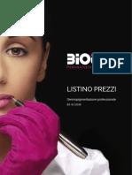 Listino Prezzi Biotek 2016