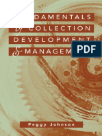 LIBRARIES Fundamentals of Collection Development and Management
