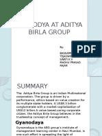 Gyanodya at Aditya Birla Group