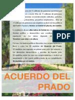 Acuerdo Del Prado presentado por Compromís al PSOE