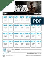 Modern Physique Calendar