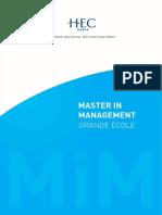 HEC Paris Brochure Mim 2016 Bd