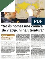 """Entrevista Jordi Clappers autor de """"Mil millas de memoria"""""""