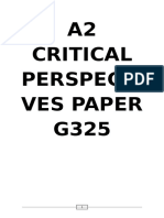 a2 Critical Perspectives Paper g325 Amended
