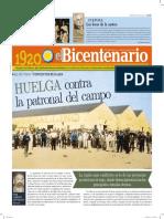 DIARIO DEL BICENTENARIO 1920