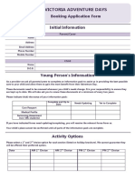 Booking Application Form