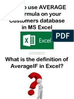 How to Use AVERAGE if Formula on Your Customers Database in MS Excel_Sofia B_Precision Minister