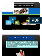 1Z0-100 - Oracle Certification Exam
