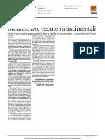 Montefeltro, vedute rinascimentali - Il Corriere Adriatico del 25 aprile 2016