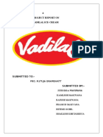 A Project Report on Vadilal Ice- Cream