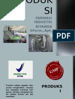 Farmasi Industri Produksi
