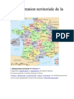 La division administrative de la France