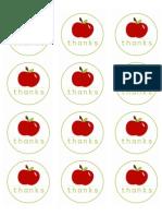 Round Apple Stickers